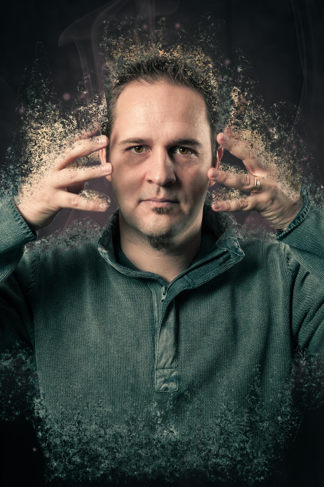 Desintegrations Effekt mit Photoshop