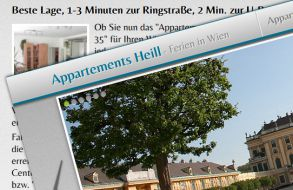 Apartment Website - Ferien in Wien