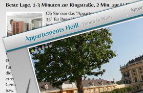Apartment Website - Ferien in Wien